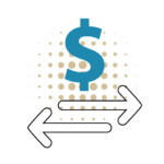 send and transfer money icons